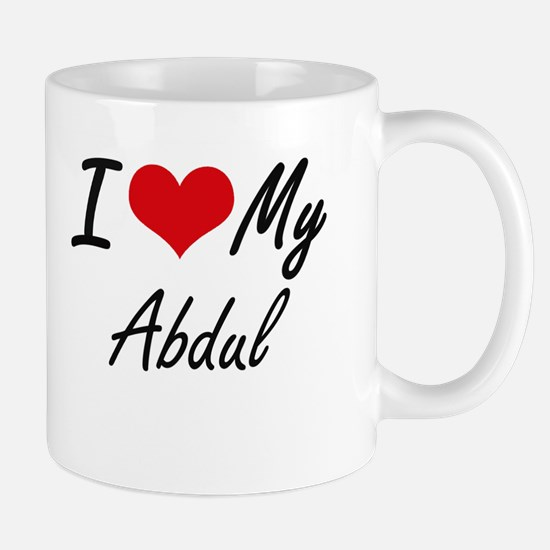 I Love My Abdul Mugs