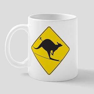 Skiing Kangaroo Mug