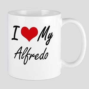 I Love My Alfredo Mugs