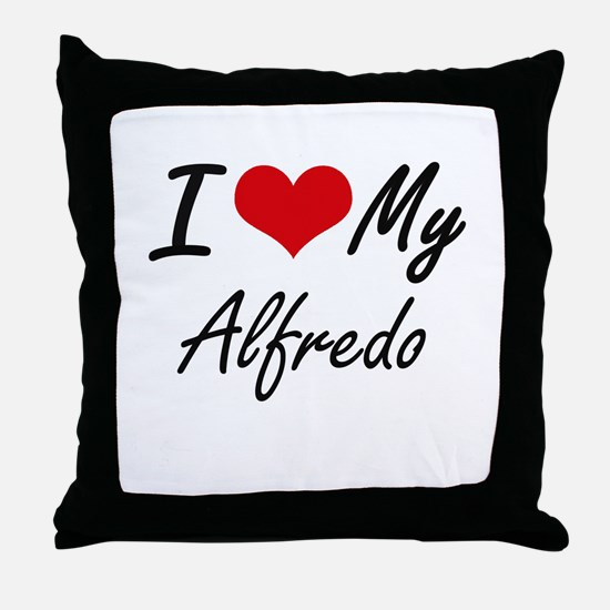 I Love My Alfredo Throw Pillow