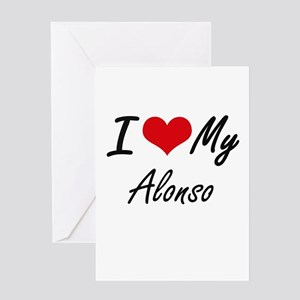 I Love My Alonso Greeting Cards