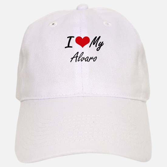 I Love My Alvaro Baseball Baseball Cap