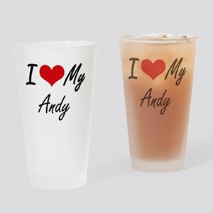 I Love My Andy Drinking Glass