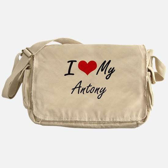 I Love My Antony Messenger Bag