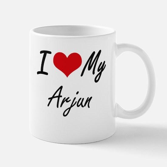 I Love My Arjun Mugs