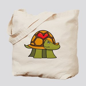 Turtle Shell Heart Tote Bag