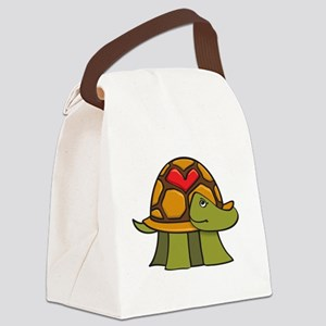 Turtle Shell Heart Canvas Lunch Bag