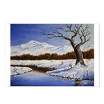 Snowy winter landscape Postcards (Package of 8)