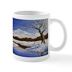 Snowy winter landscape Mugs