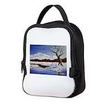 Snowy winter landscape Neoprene Lunch Bag