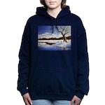 Snowy winter landscape Women's Hooded Sweatshirt