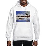 Snowy winter landscape Jumper Hoodie