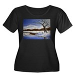 Snowy winter landscape Plus Size T-Shirt