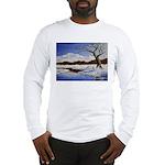 Snowy winter landscape Long Sleeve T-Shirt