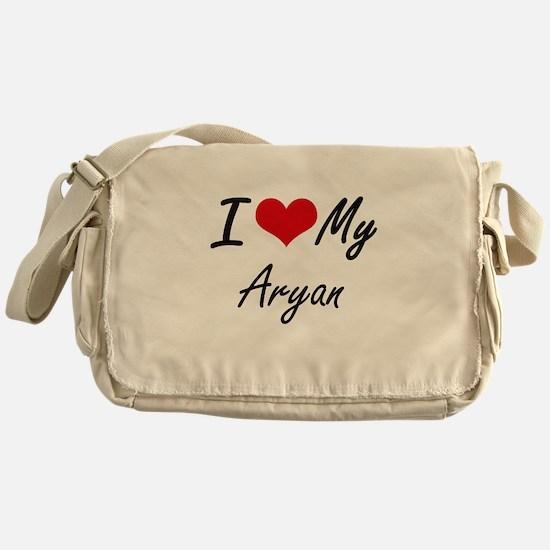 I Love My Aryan Messenger Bag