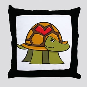Turtle Shell Heart Throw Pillow