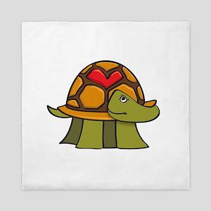 Turtle Shell Heart Queen Duvet