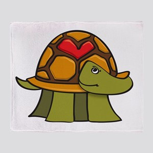 Turtle Shell Heart Throw Blanket