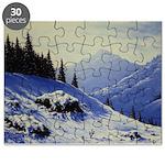 Winter mountain scene Puzzle