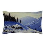 Winter mountain scene Pillow Case