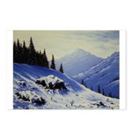 Winter mountain scene Postcards (Package of 8)