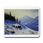Winter mountain scene Mousepad