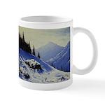 Winter mountain scene Mugs