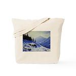 Winter mountain scene Tote Bag