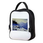 Winter mountain scene Neoprene Lunch Bag