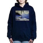Winter mountain scene Women's Hooded Sweatshirt