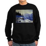 Winter mountain scene Sweater