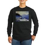 Winter mountain scene Long Sleeve T-Shirt