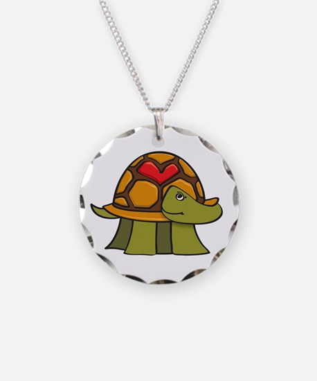Turtle Shell Heart Necklace