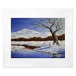 Snowy winter landscape King Duvet