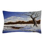 Snowy winter landscape Pillow Case