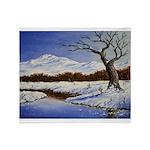 Snowy winter landscape Throw Blanket