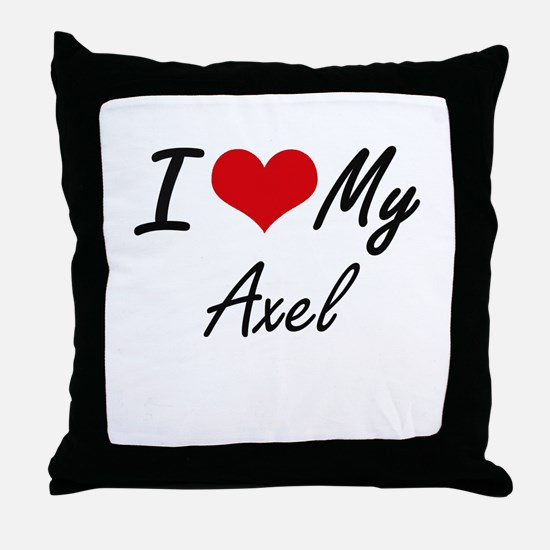 I Love My Axel Throw Pillow