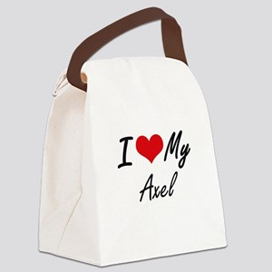 I Love My Axel Canvas Lunch Bag