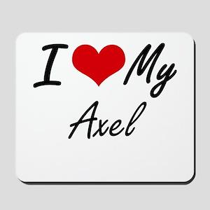 I Love My Axel Mousepad