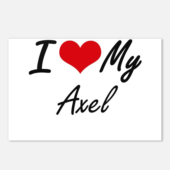 I Love My Axel Postcards (Package of 8)