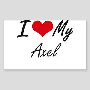 I Love My Axel Sticker