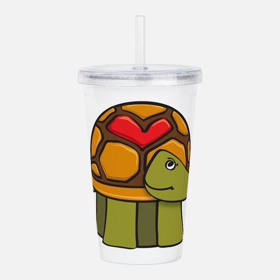 Turtle Shell Heart Acrylic Double-wall Tumbler