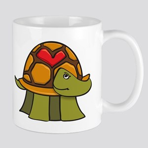 Turtle Shell Heart Mugs