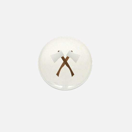 Crossed Axes Mini Button