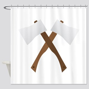 Crossed Axes Shower Curtain