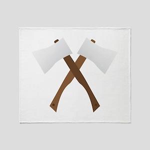 Crossed Axes Throw Blanket