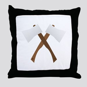 Crossed Axes Throw Pillow