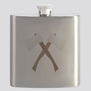 Crossed Axes Flask