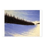 Winter evergreens Postcards (Package of 8)