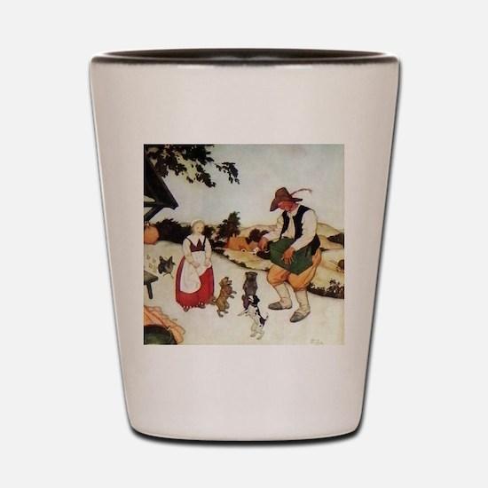Flemish Fairy Tale - White Caroline and Shot Glass